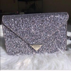 Rebecca Minkoff sparkly purple purse